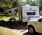 Trailer in Tunnel Mountain Trailer Court